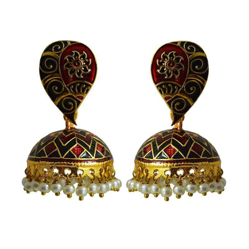 Latest Multicolor Meenakari Tokri Jhumki Earring