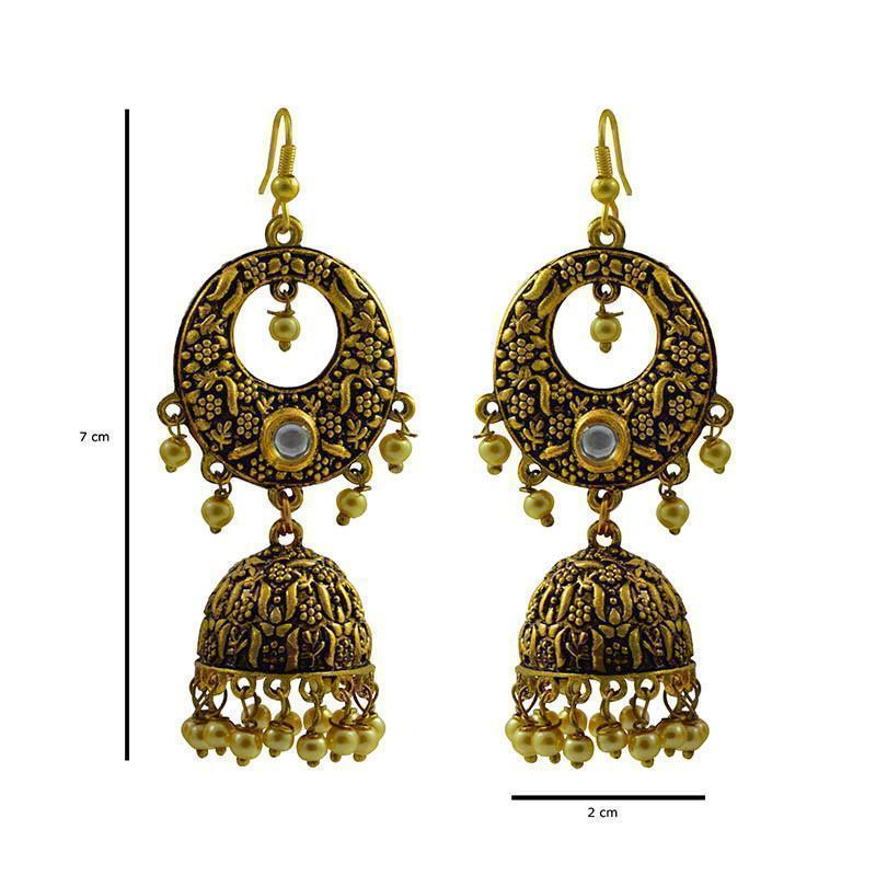Antique Bell-Shaped Bali Jhumki