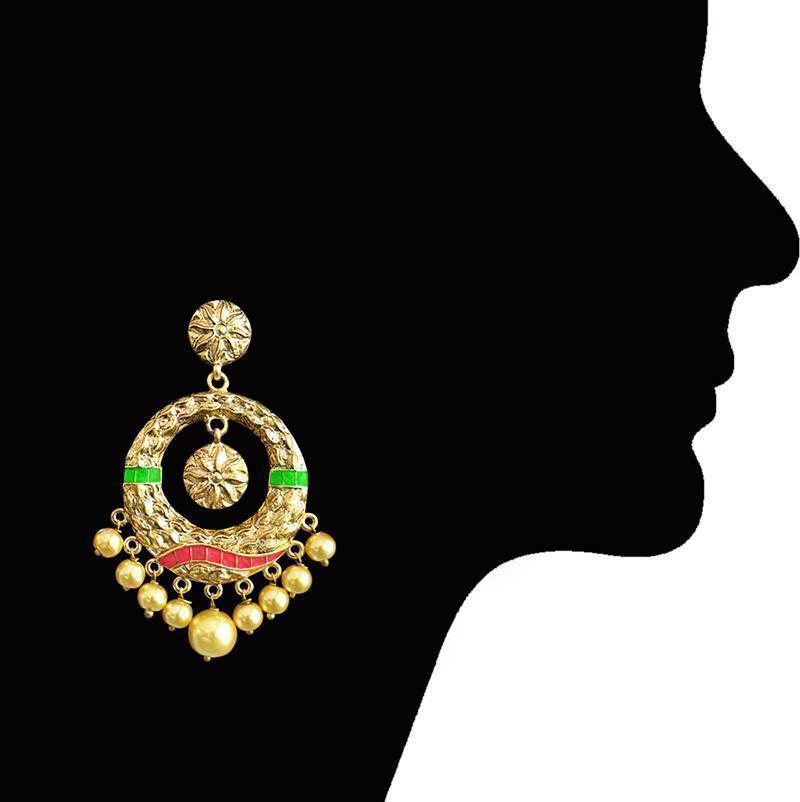 Antique Pearl Bali Earring