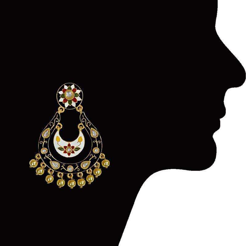 Designer Meenakari Kundan Gold Plated Fashion Dangler