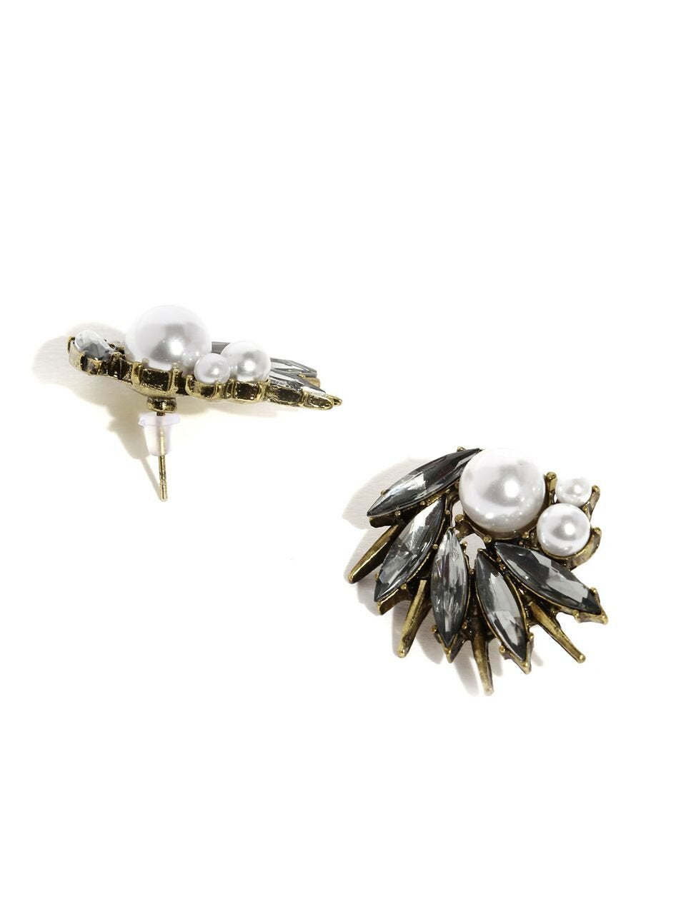 Silver Stone Embellished Earrings