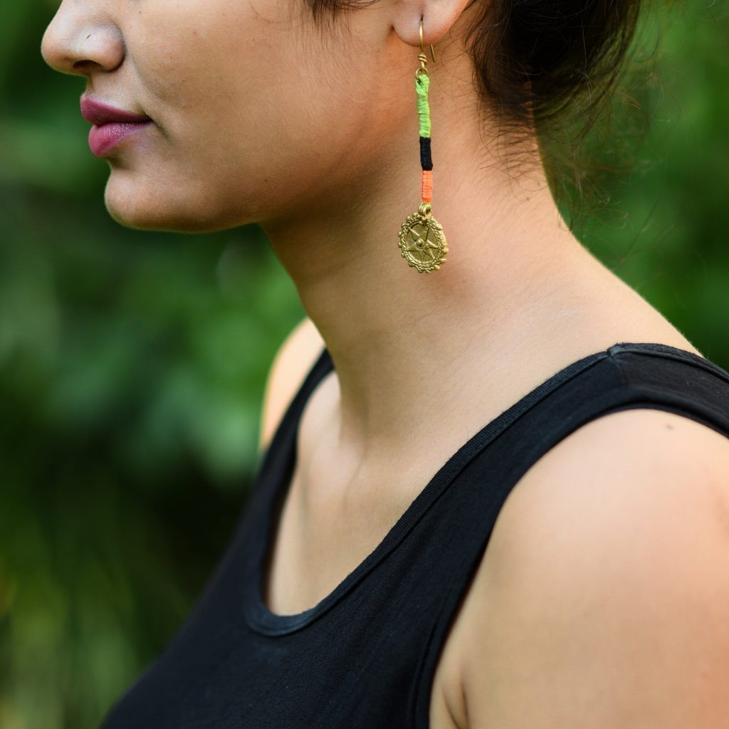 Dhokra Earring Entangle