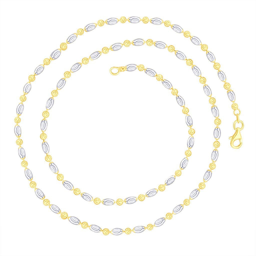 Two Tone Ripple Bead Chain