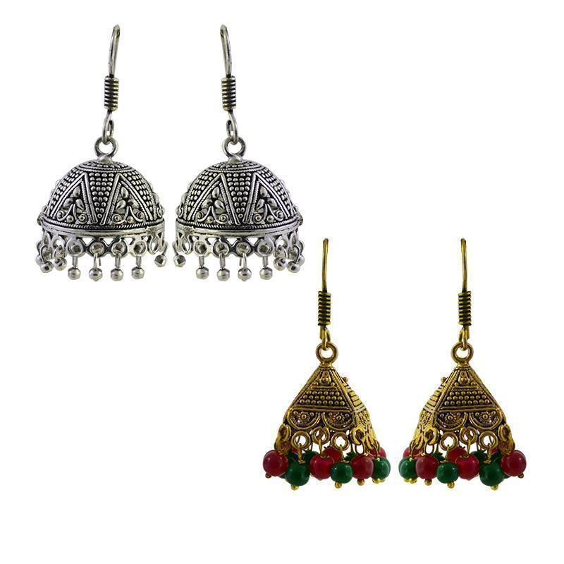 Traditional Antique Golden Alloy Earring Combo