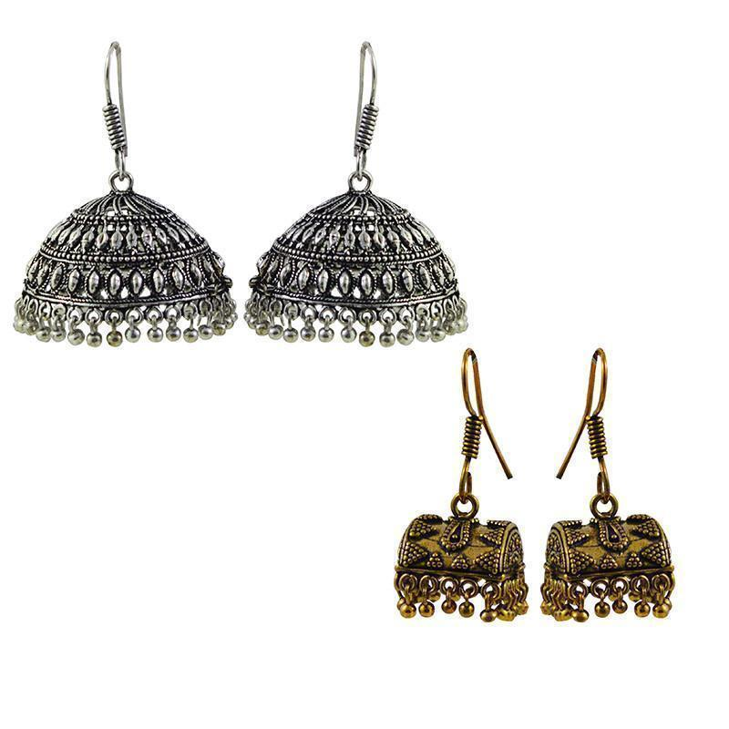 Classic  Antique Golden Alloy Earring Combo