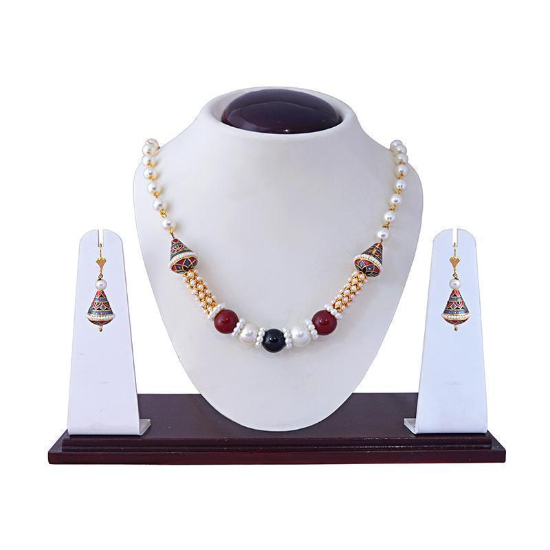Combo of Ethnic Meenakari Kundan Gold Plated Necklace Set