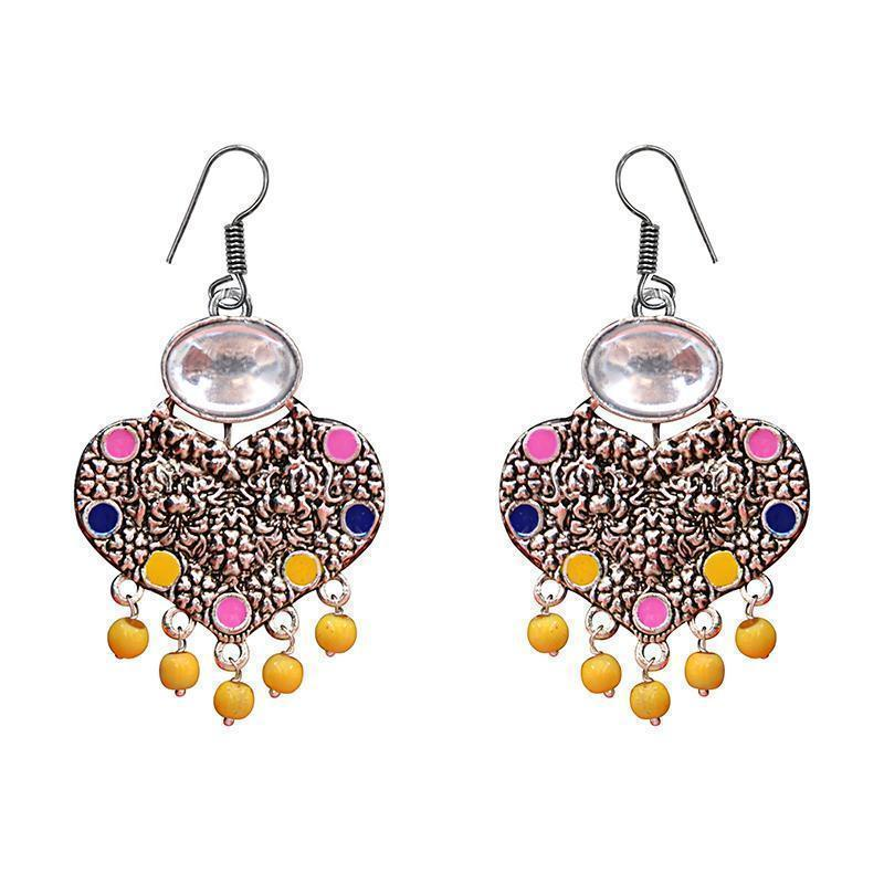 COMBO of Traditional Meenakari Kundan Silver Plated Earring