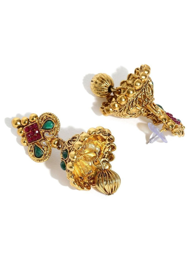 Zaveri Pearls Ethnic Jhumka Earrings