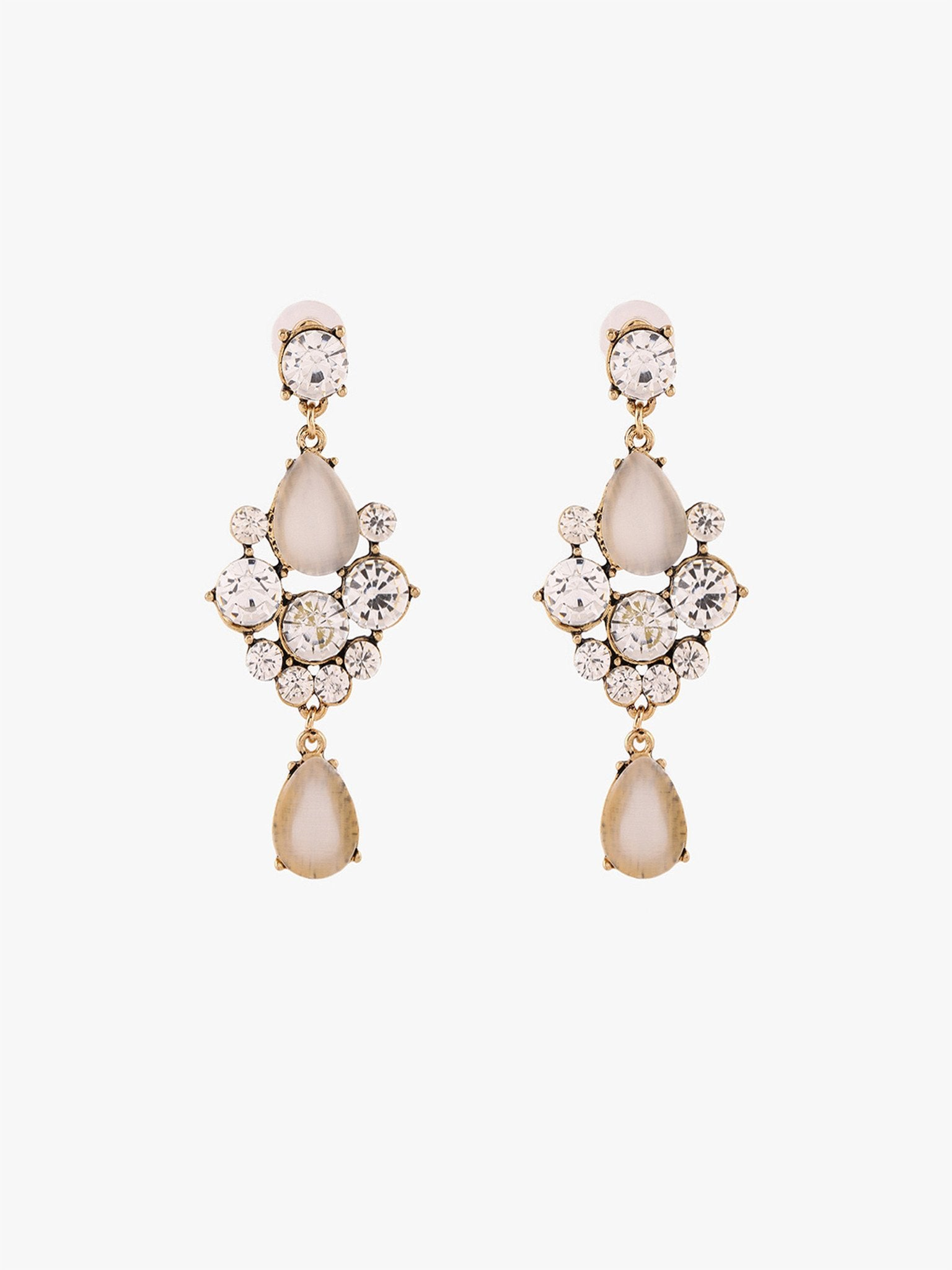 Creme Raindrop Earrings
