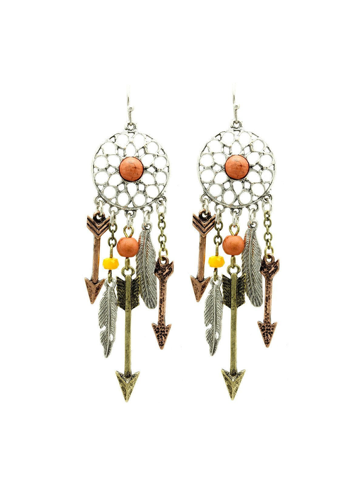 Tangerine Dreamcatcher Earrings