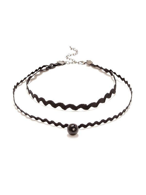 Black Wave Linked Choker