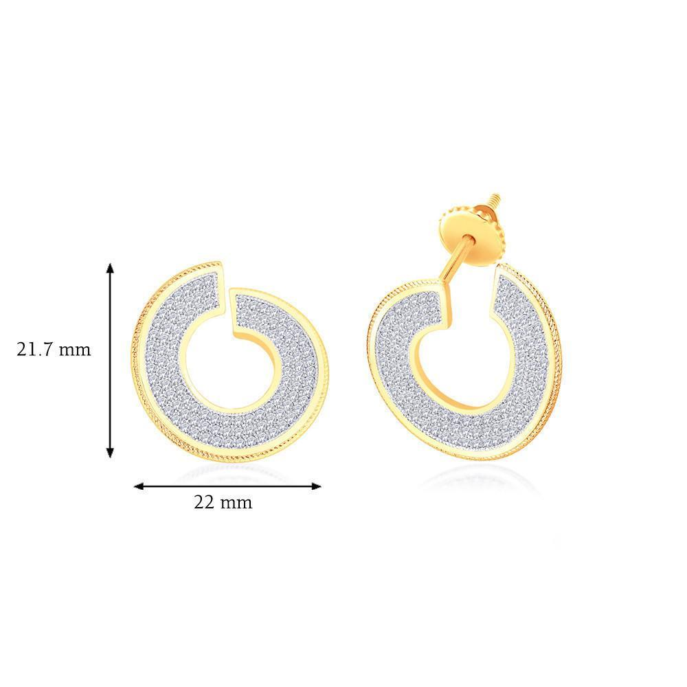 Goldie Circular Drop Earrings