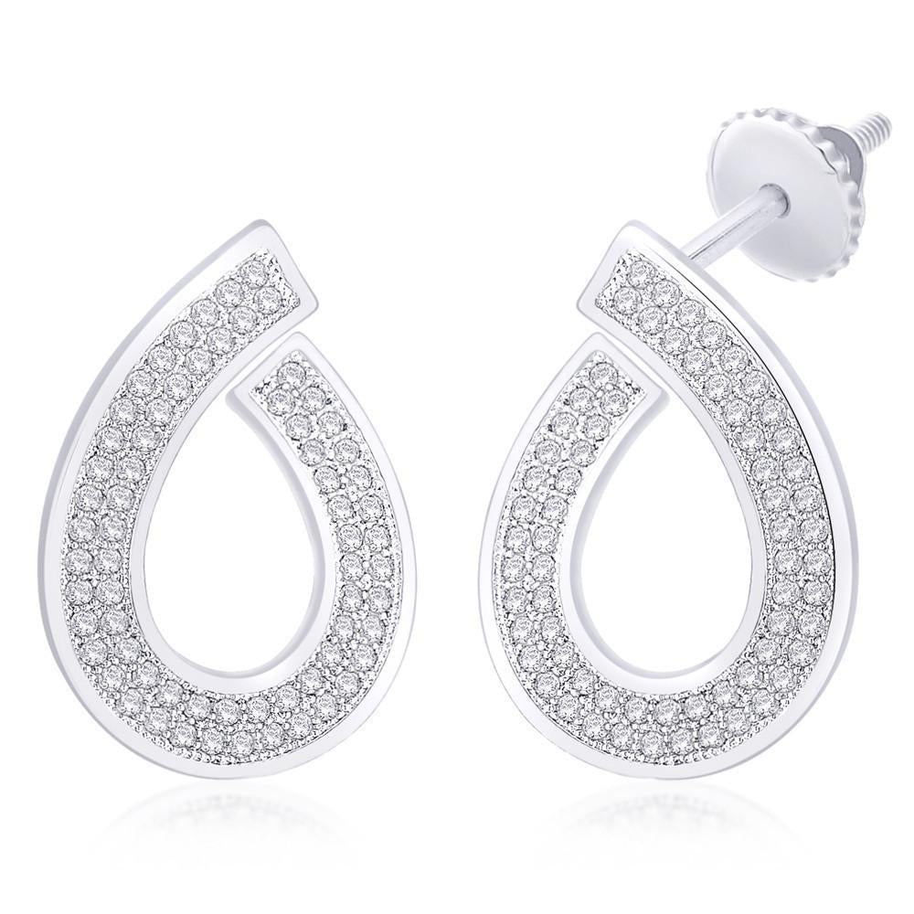 Open Pear Shaped Drop Earrings For Party Wear