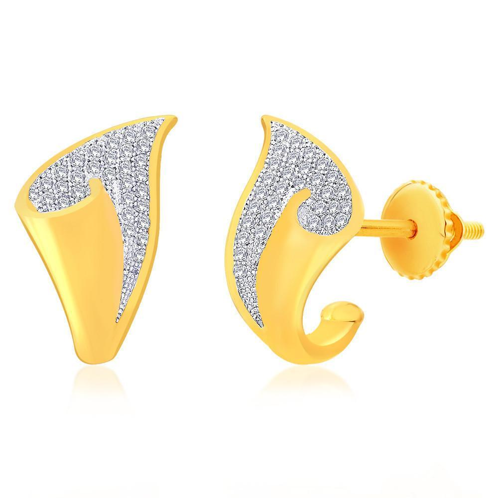 Shiny Shell Earrings For Party Wear