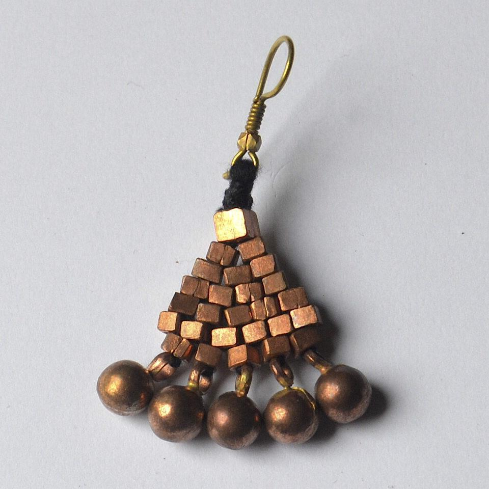 Copper Dhokra Tribal Earring