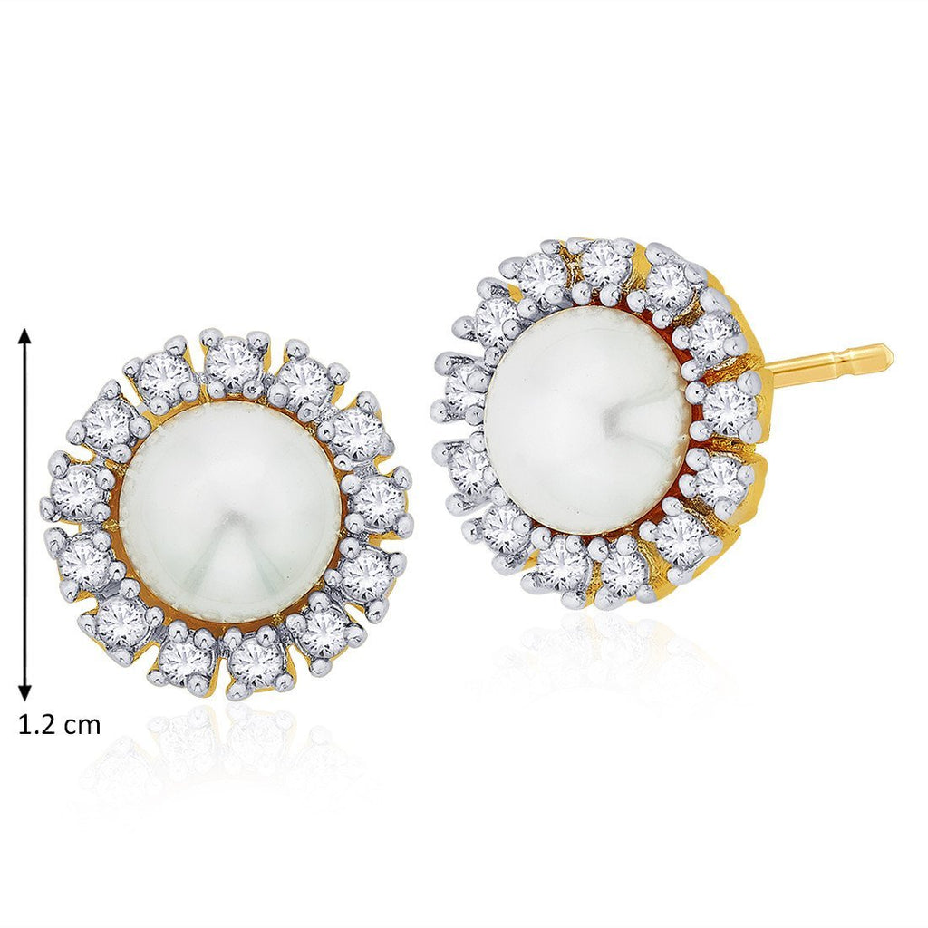 Pop Of Pearl Studs