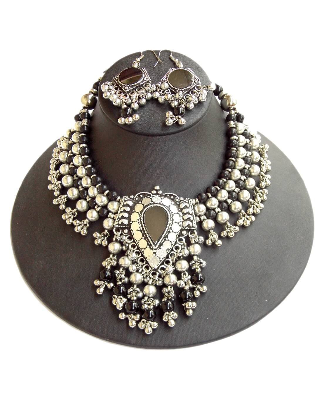 Oxidized Metal Navratri Jewellery Set