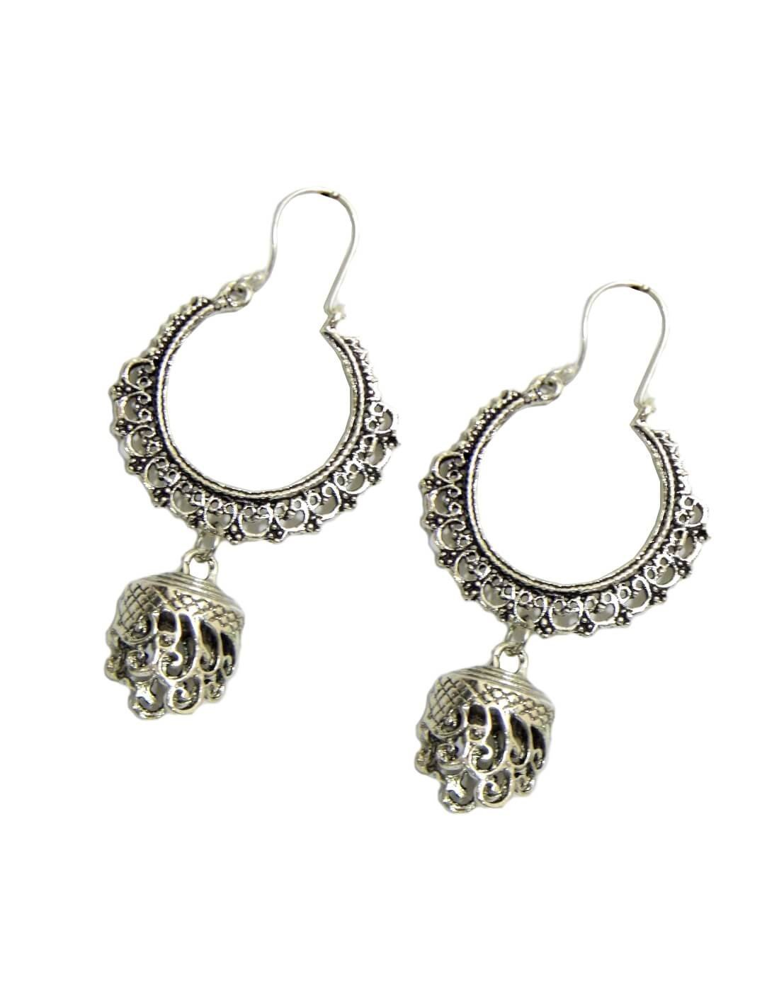 German Silver Chandbali Earrings