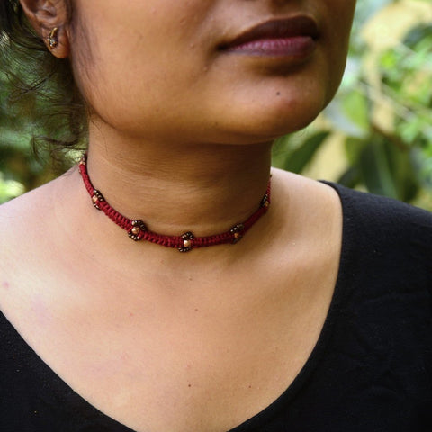 Dhokra Necklace Choker