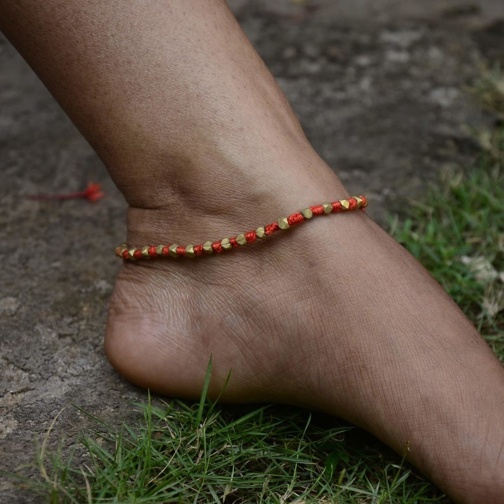 Dhokra Anklet Simple