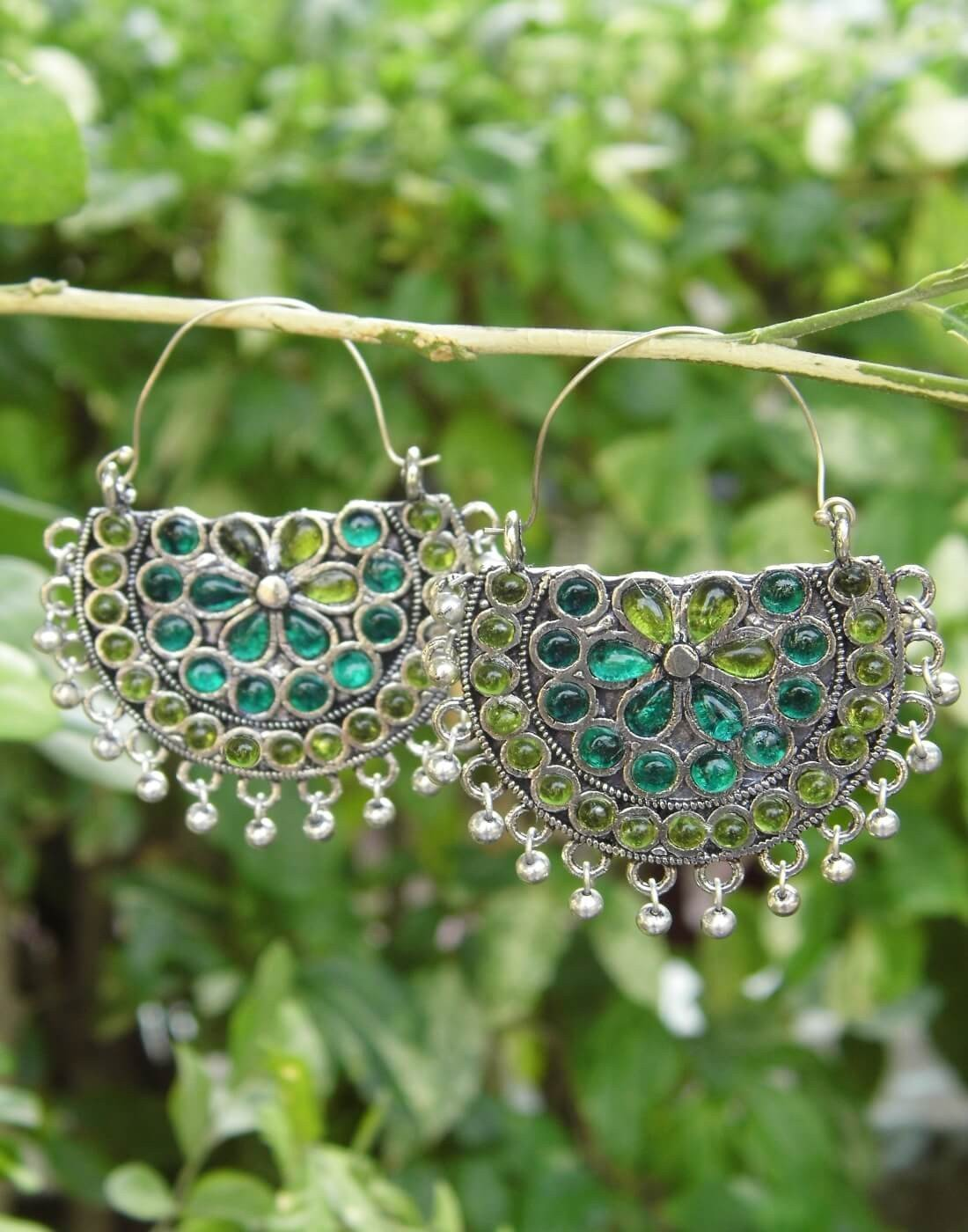 Afghani Earrings/Chandbalis In Alloy Metal 25