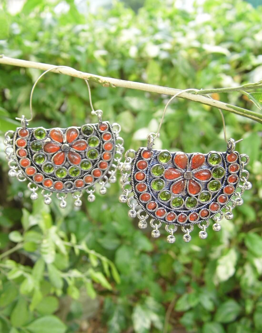 Afghani Earrings/Chandbalis In Alloy Metal 22