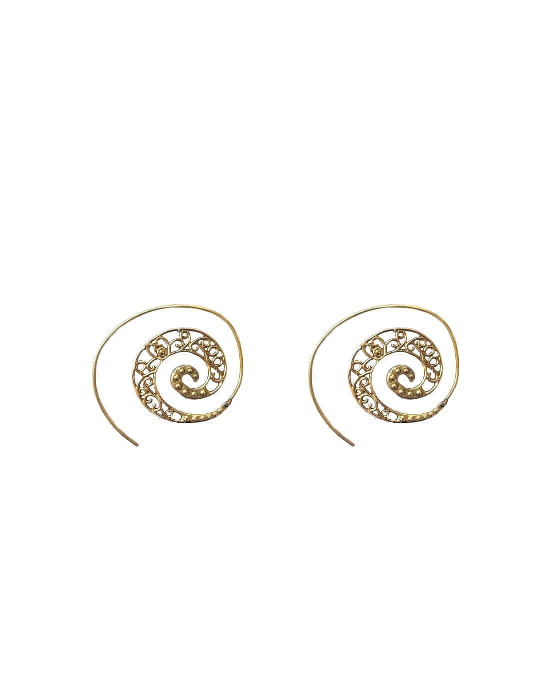 Spiral Brass Earrings 6