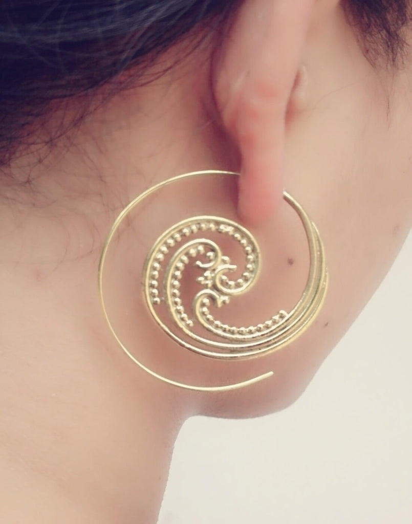 Spiral Brass Earrings 3