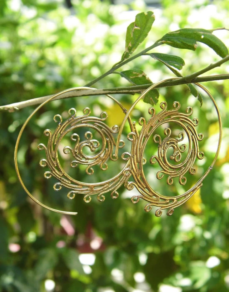 Spiral Brass Earrings 1