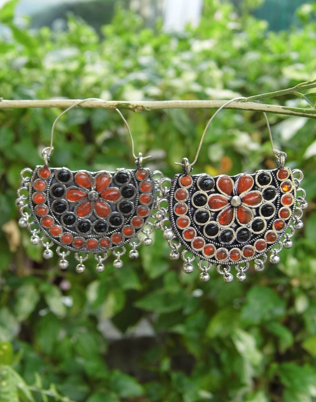Afghani Earrings/Chandbalis In Alloy Metal 45
