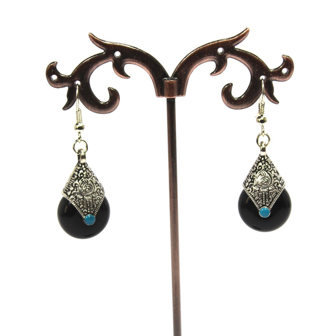Black Color Rain Drop Earring