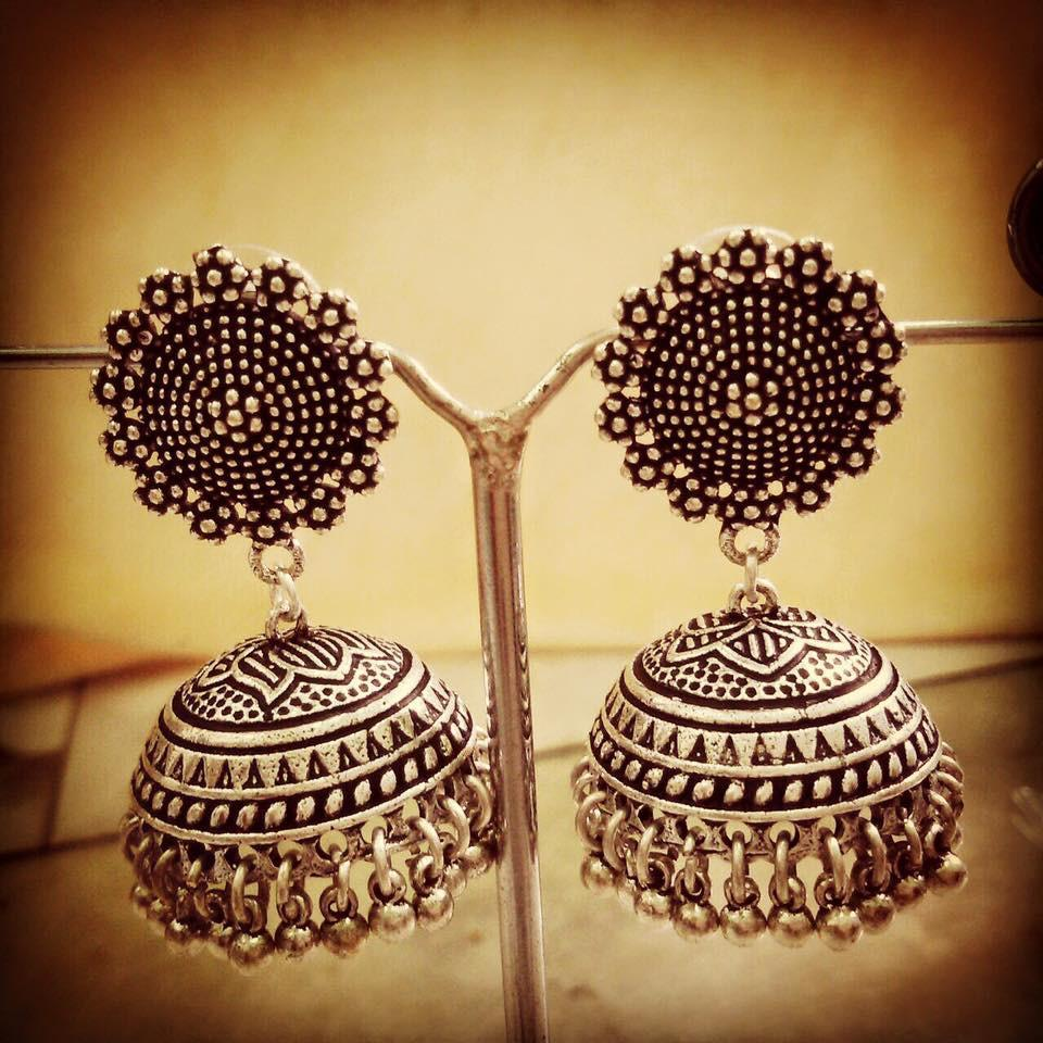 Oxidised German Silver Jhumka