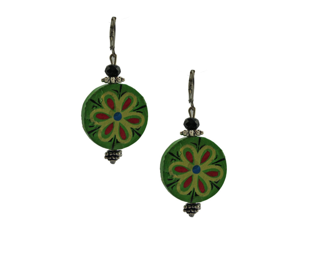 Green Porcelain Dangler