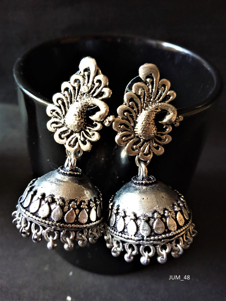 Dancing Peacock Jhumka