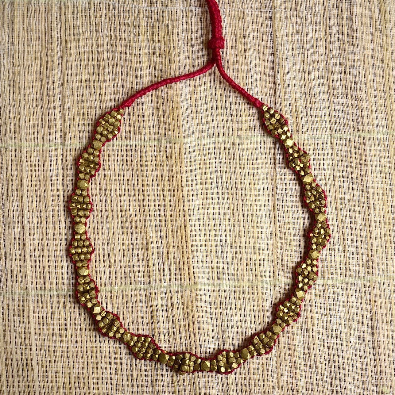 Dhokra Necklace Red