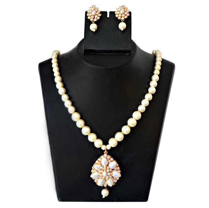 Mk Jewellers  Pacchi Pearl Necklace Set-44