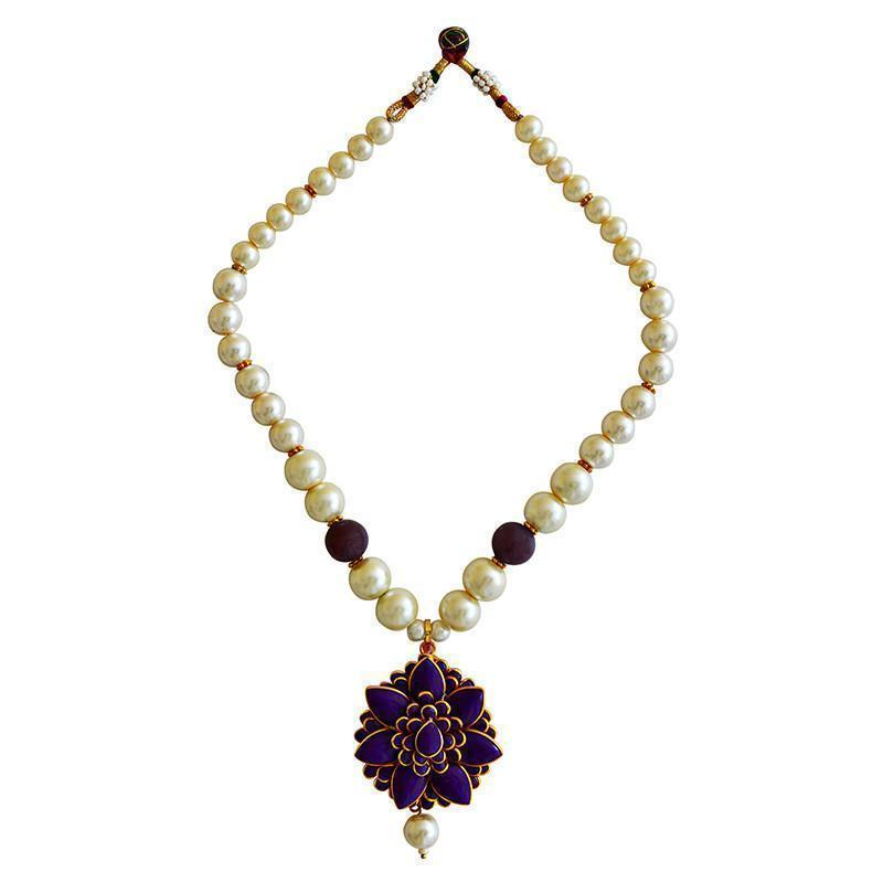 Mk Jewellers  Pacchi Pearl Necklace Set-46