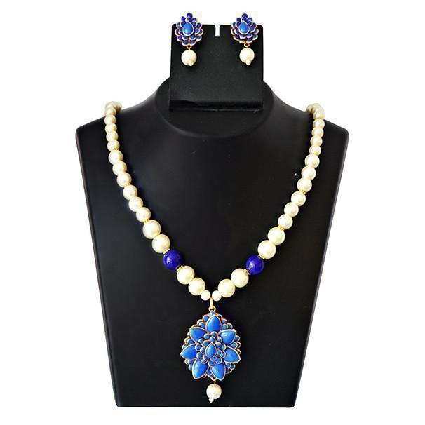 Mk Jewellers  Pacchi Pearl Necklace Set-47