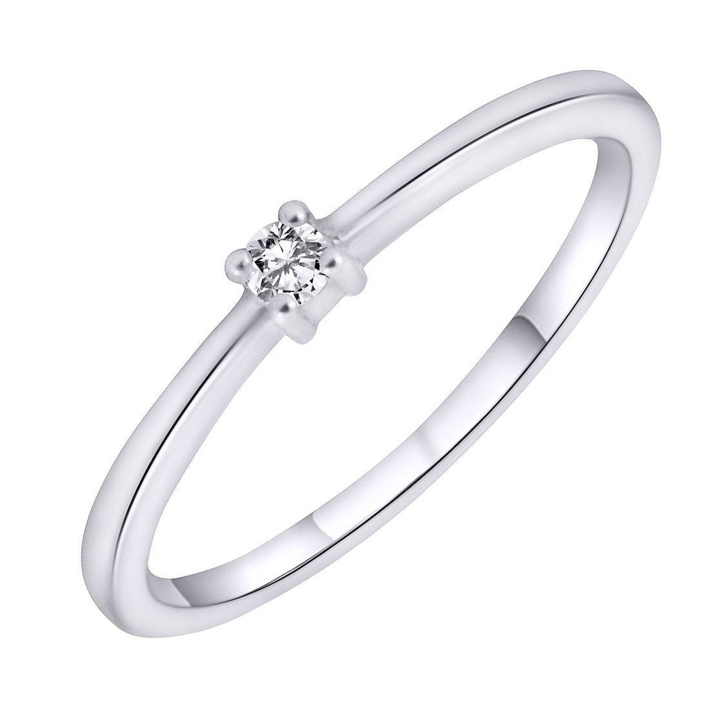 Slender Solitaire Ring