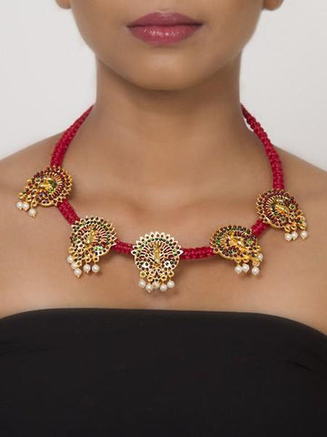 Coral Red Haslee Necklace