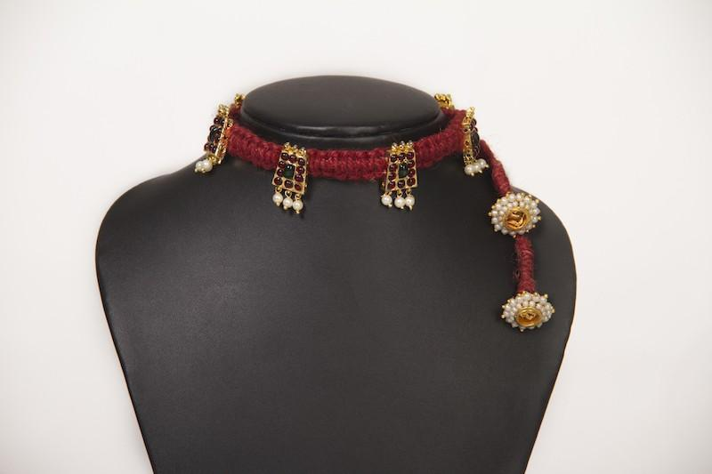 Burnt Sienna Choker Necklace