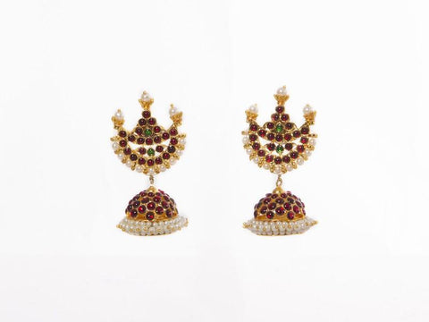 Chaand Stud With Jhumka