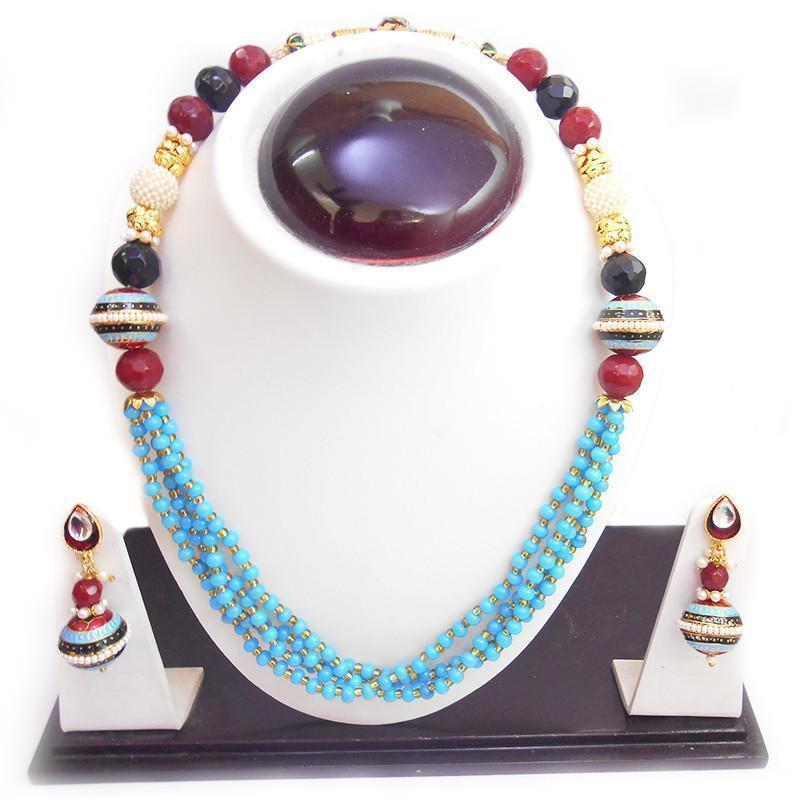 Coloured Maala Necklace