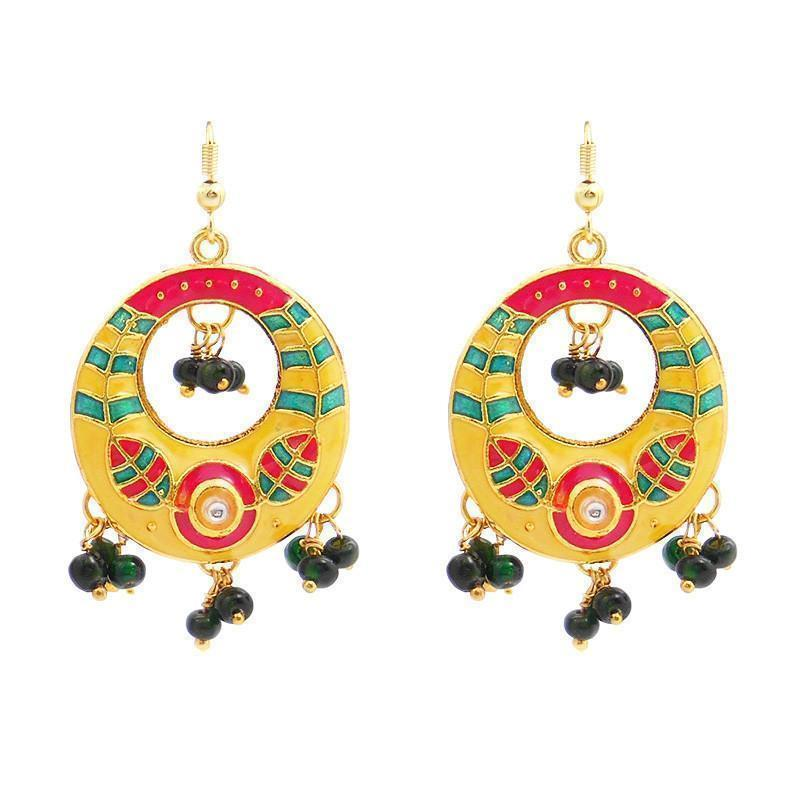 Meenakari Bali Dangler Earrings