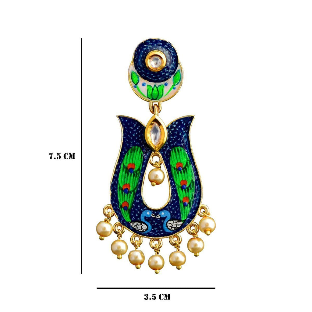 Designer Meenakari Hand Painted Earrings
