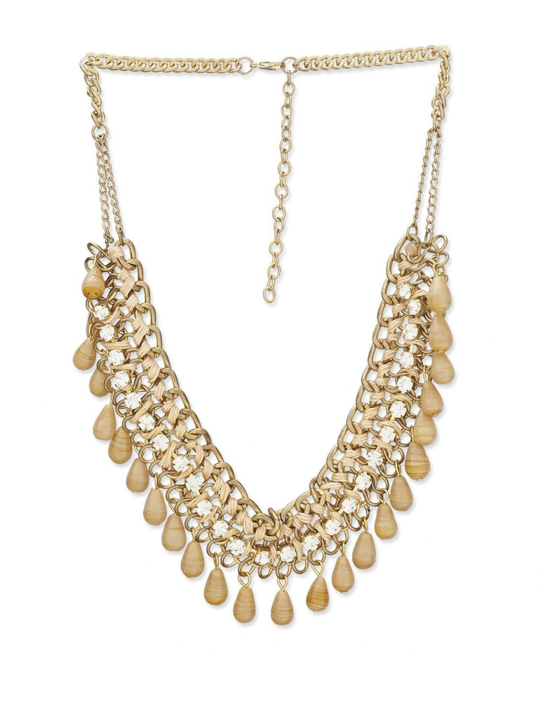 Beige Beads Fashion Necklace