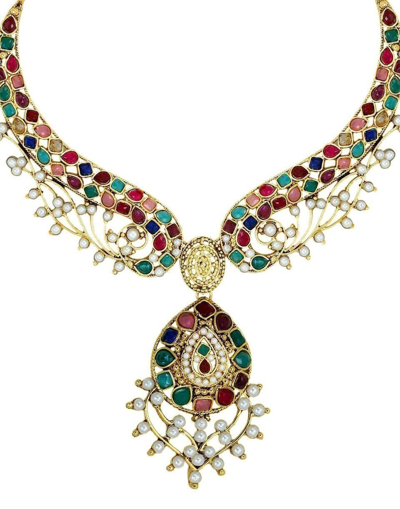 Marwari Designer Look Multicolor Necklace Set