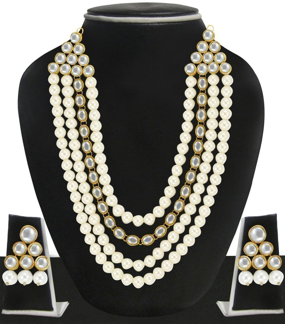 Zaveri Pearls Beautiful Queens Pearl Necklace Set