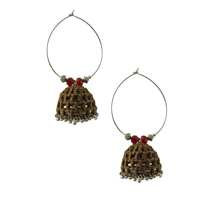 Brown Crochet Hoops