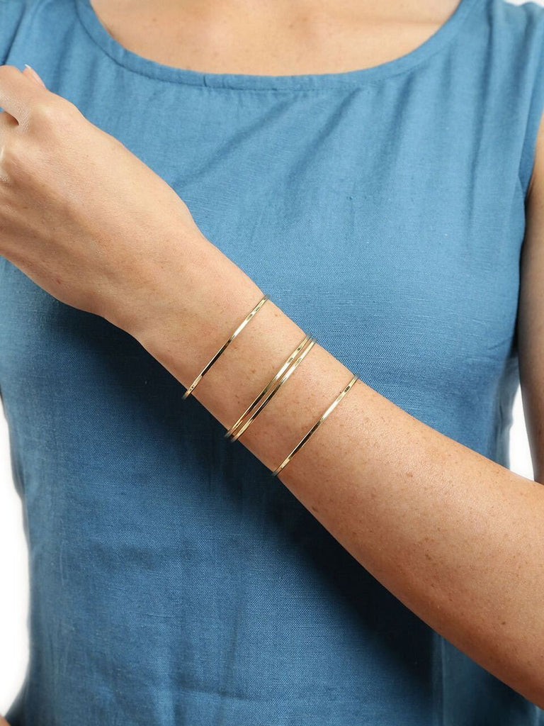 Gold Coil Patterned Cuff